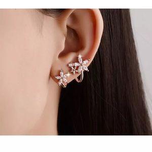 Rose Gold Shooting Star Earrings